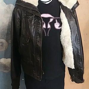 Xhilaration Jackets & Coats - Cool faux-leather bomber jacket